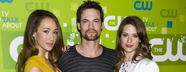 Maggie Q insieme a Lyndsy Fonseca e Shane West agli upfront di The CW