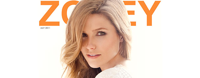 Sophia Bush sulla copertina di Zooey di giugno luglio 2011