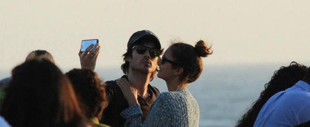 The Vampire Diaries: Ian Somerhalder e Nina Dobrev a Santa Monica per il weekend