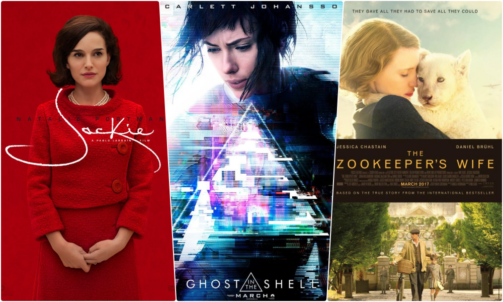 Jackie, Ghost in the Shell, The Zookeeper's Wife