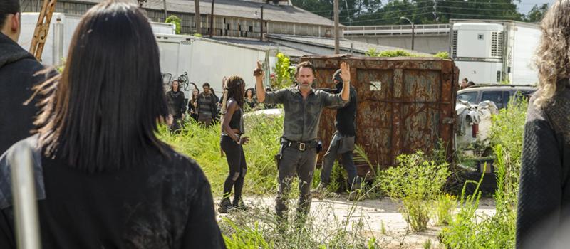 Andrew Lincoln and Danai Gurira in The Walking Dead